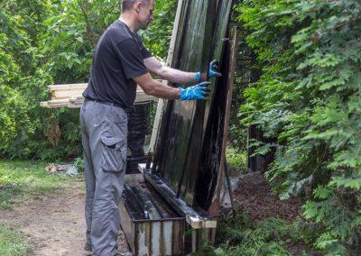 Przygotowania do remontu ogrodzenia