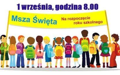Msza św. inaugurująca rok szkolny 2020/2021